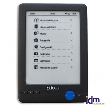 Billow E03T eBook reader E03T 6 pulgadas  E-Ink 4GB Táctil