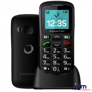 Brigmton BTM11 Movil Senior 1.7 pulgadas  SOS BT + Dock