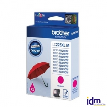 Brother Cartucho LC225XLMB MAGENTA DCP4120 1200 Pg