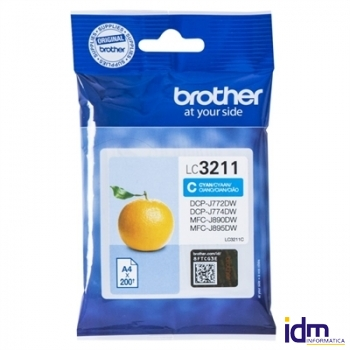 Brother Cartucho LC3211C Cian  Blister