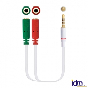 CABLE ADAP. AUDIO JACK3.5 4PIN-2XJACK3.5 3PIN 20CM