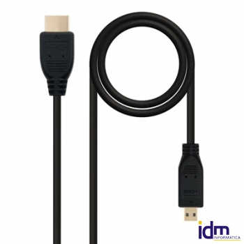 CABLE MICRO HDMI 1.4 (ALTA VELOCIDAD) A/M-D/M 0.8M