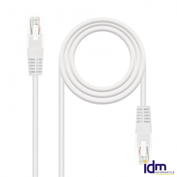 CABLE RED LATIGUILLO RJ45 CAT.5E UTP BLANCO, 5.0 M