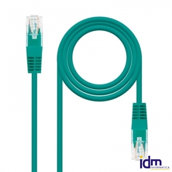 CABLE RED LATIGUILLO RJ45 CAT.5E UTP VERDE, 0.5 M