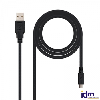 CABLE USB 2.0 A/M MICRO USB B/M 0,8M