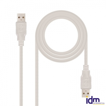 CABLE USB 2.0, TIPO A/M-A/M, 2.0 M