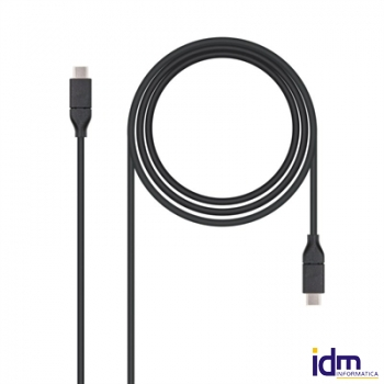 CABLE USB 3.1 GEN2 10Gbps USB-C A USB-C NEGRO 1M