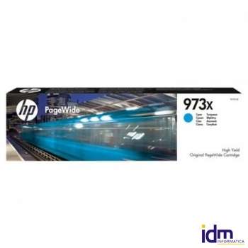 CARTUCHO CIAN HP PAGEWIDE 973X - 7000 P�GINAS - PARA PAGEWIDE PRO 477 / 452 DEPF6T81AE