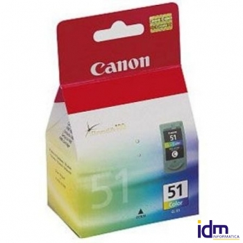 CARTUCHO DE TINTA COLOR CANON ALTO RENDIMIENTO PIXMA IP2200/6210D/6220D, MP150/170/450 DEPBCC-CL-51
