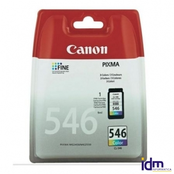 CARTUCHO DE TINTA COLOR CANON CLI-546 9ML COMPATIBLE CON MG2450/MG2550 DEPCAN-CLI-546