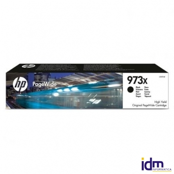 CARTUCHO NEGRO HP PAGEWIDE 973X - 10000 P�GINAS - PARA PAGEWIDE PRO 477 / 452 DEPL0S07AE