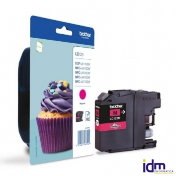 CARTUCHO TINTA BROTHER LC-123 MAGENTA DEPBRO-LC123M