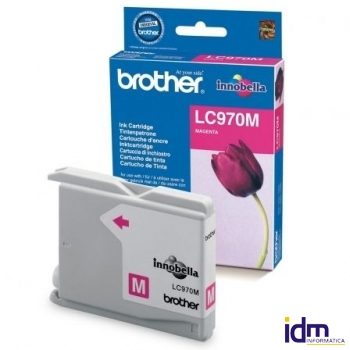 CARTUCHO TINTA BROTHER LC-970 300 P�GINAS MAGENTA