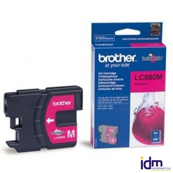CARTUCHO TINTA BROTHER LC-980 260 P�GINAS MAGENTA
