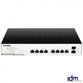 D-Link DGS-1100-10MP Switch 8xGigabit PoE+ 2xSFP