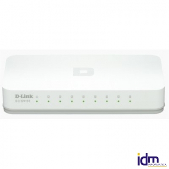 D-Link GO-SW-8E Switch 8p 10/100Mbps Green