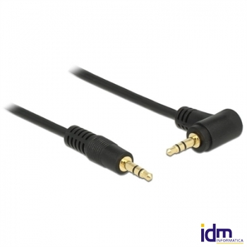 Delock Cable Audio Jack 3.5mm 3 pin 3 metros Negro