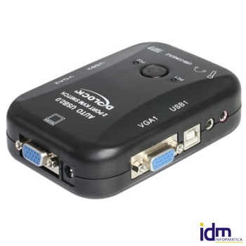 DELOCK Conmutador KVM 2 a VGA con USB/1 Ps2/ audio