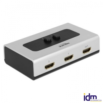 DELOCK Switch HDMI de 2 puertos manual