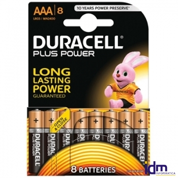 DURACELL PLUS POWER PILA ALCALINA AAA LR03 BLISTER
