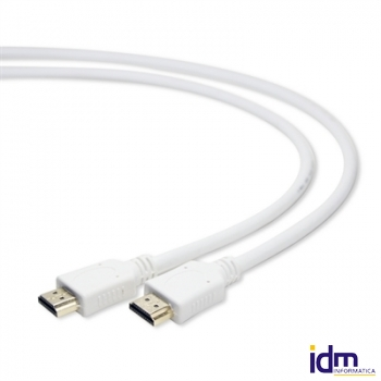 Gembird Cable HDMI (M)-(M) con Ethernet 1 Mts Blnc