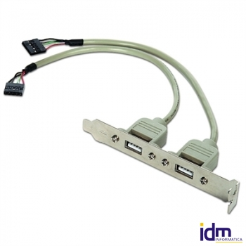 Gembird Cable USB 2.0 Panel Posterior 2xUSB 0.25Mt