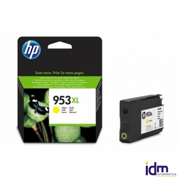 HP 953XL Cartucho Amarillo F6U18AE  Officejet 8710