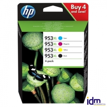 HP Cartucho 953XL Pack 4 colores