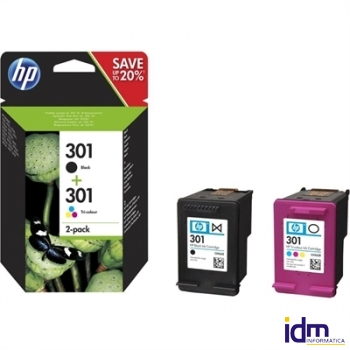 HP Multipack 1x301 Negro + 1x301 Color