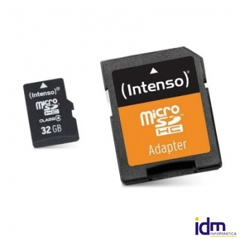 Intenso 3413480 Micro SD clase 10 32GB c/adapt
