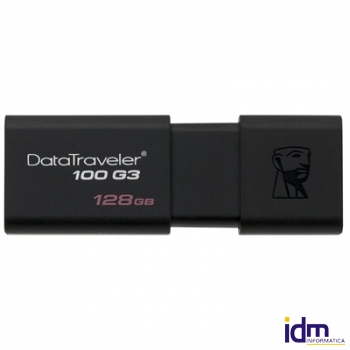 Kingston DataTraveler DT100G3 128GB USB 3.0 Negro