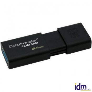 Kingston DataTraveler DT100G3 64GB USB 3.0 Negro