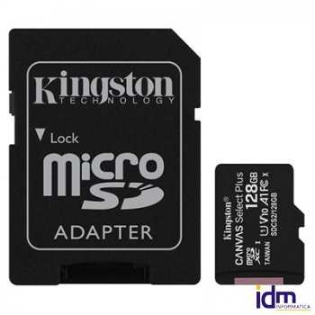 Kingston SDCS2/128GB microSD XC clase 10 128GB c/a