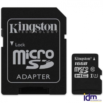 Kingston SDCS2/16GB micro SD XC clase 10 16GB c/a