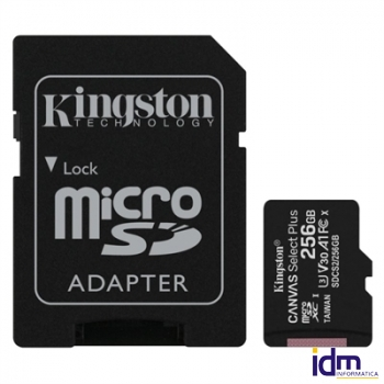 Kingston SDCS2/256GB microSD XC clase 10 256GB c/a