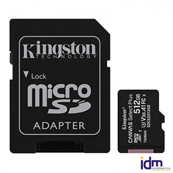 Kingston SDCS2/512GB microSD XC clase 10 512GB c/a
