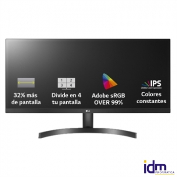 LG 29WK500-P Monitor 29 pulgadas  IPS UWFHD 5ms HDMI MM