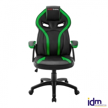 Mars Gaming Silla MGC118 Negra/Verde GAS-LIFT CL4