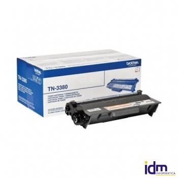 TONER NEGRO BROTHER TN-3380 - 8000 PAGINAS APROX - COMPATIBLE SEGUN ESPECIFICACIONES DEPBRO-TN3380
