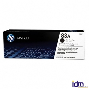TONER NEGRO HP CF283A - N� 83A - 1500 P�GINAS - COMPATIBLE CON LASERJET M125NW / MFP M127FN / M127FW