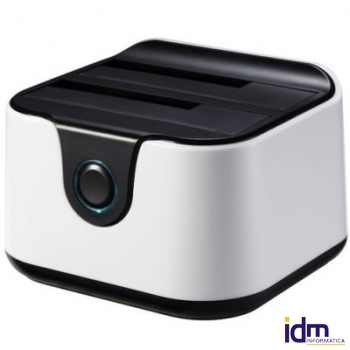 Tooq TQDS-802BW Dock Station Doble Bahía HDD Ne/Bl