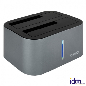 Tooq TQDS-805G Dock Station Doble Bah�a HDD Gris