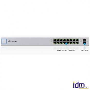 Ubiquiti UniFi Switch US-16-150W 16xGB 2xSFP