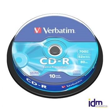 Verbatim CD-R 700MB 52x Tarrina 10Uds