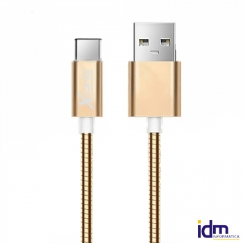 X-One CMC1000G Cable USB metal Tipo-C Oro Rosa